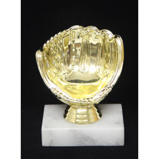 Golden Glove Baseball Holder Trophy